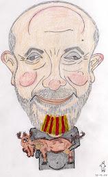 La meva caricatura feta pel Fantasma del Castillo