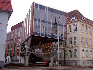Building with Modern Architectural Design