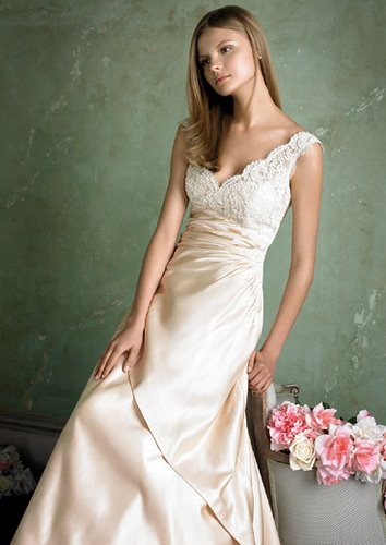 pictures of wedding dresses with color. Island wedding dress color or