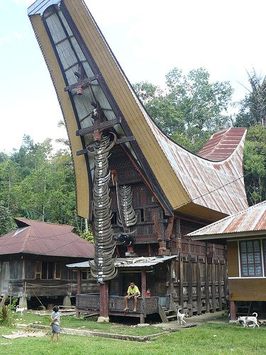 unique architecture of Toraja house