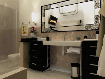 modern beautiful bathroom
