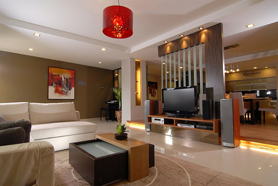 is the small modern minimalist style of living room interior design