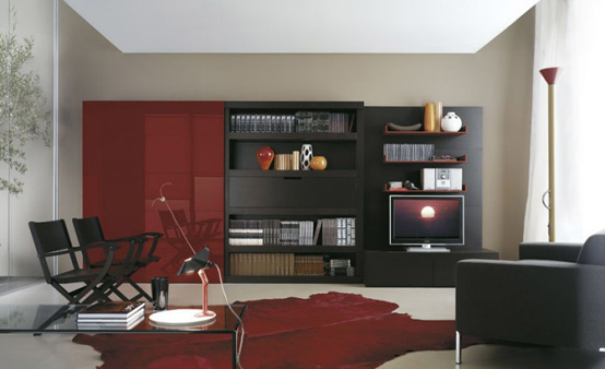 TV Stand Book Case Furniture · Master Living Room Home Interior Furniture  Design Ideas