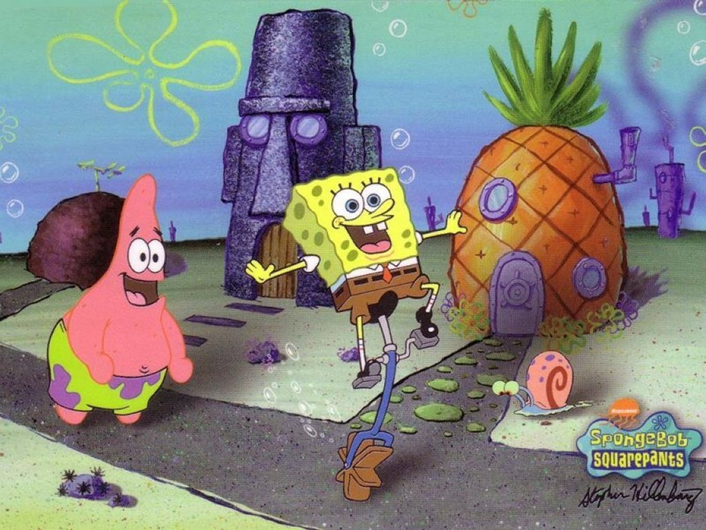 cycling with patrick spongebob wallpapers cute spongebob wallpapers