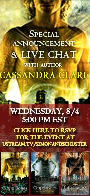 Cassandra Clare Chat!