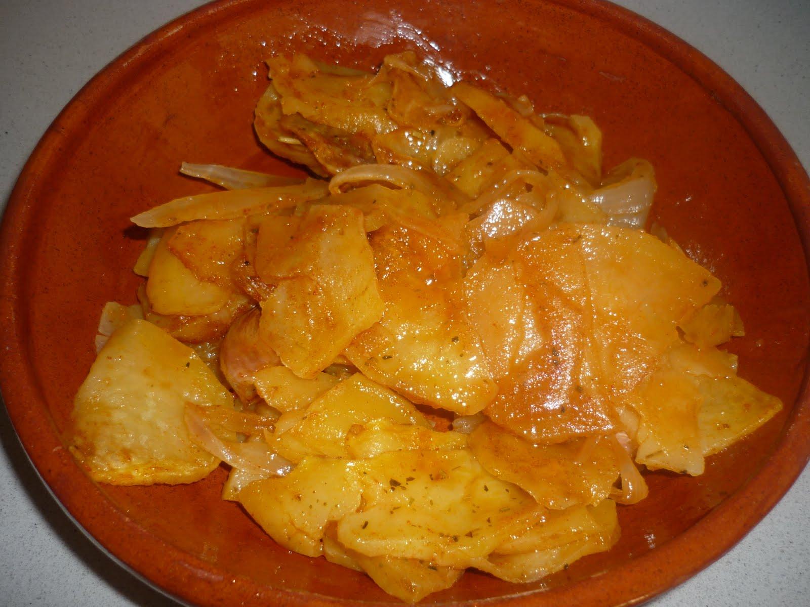 Cocina con raquel patatas a lo pobre al microondas for Cocina al microondas