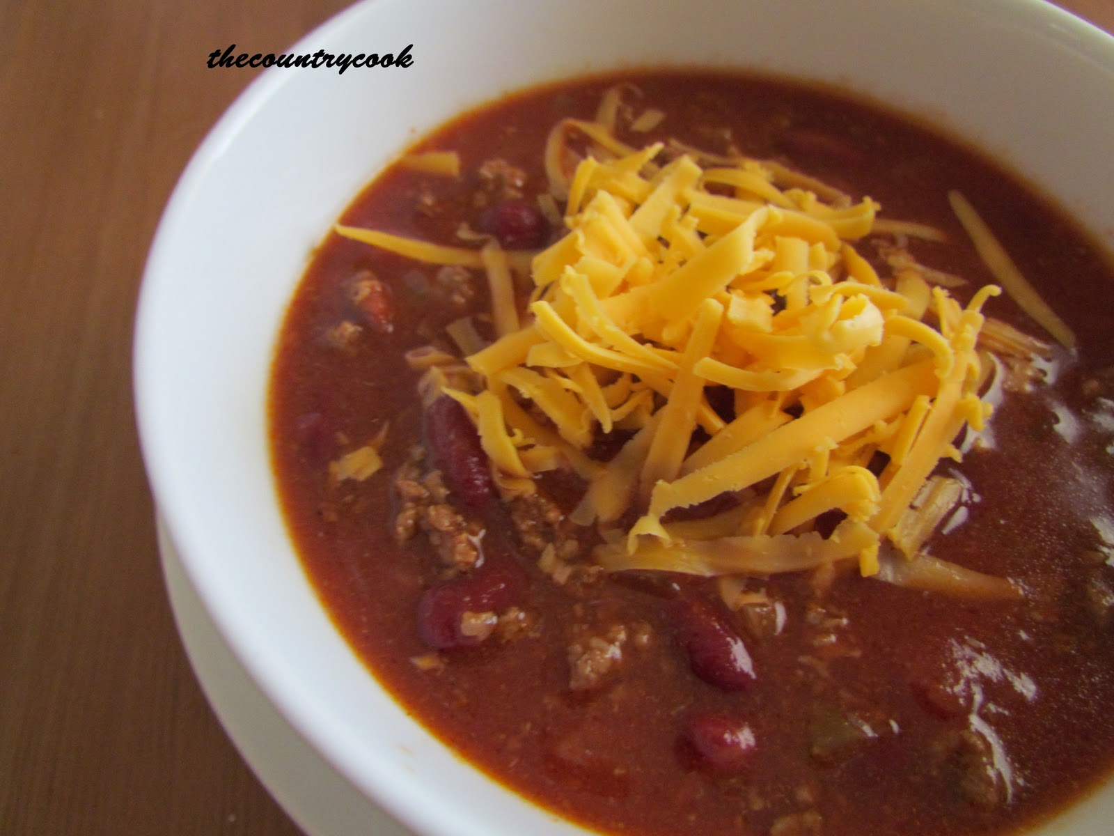 The Country Cook: Crock Pot Chili & Sweet Cornbread