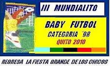 TERCER MUNDIALITO DE BABY FUTBOL