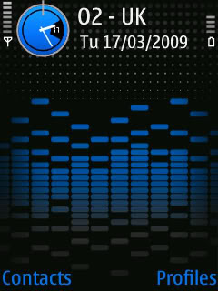Nokia 5700 Xpress Music original themes – Blue