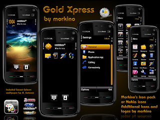 Gold Xpress by Morkino 5800,N97,samsung omnia theme,