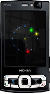 Flashlite screensavers : Analogue Glowing Clock by supertonic