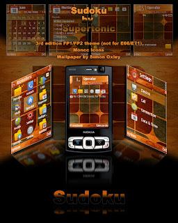 Sudoku by Supertonic,symbian theme