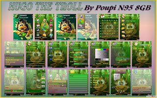 Nokia Symbian s60 v3 theme Hugo The Troll by Poupi