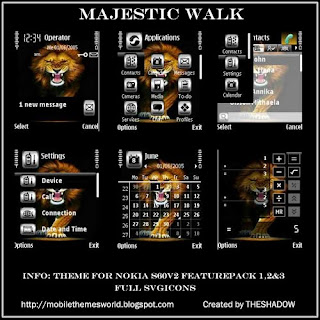 Majestic Walk  Nokia S60v2 fp1 and Fp2 Theme by TheShadow