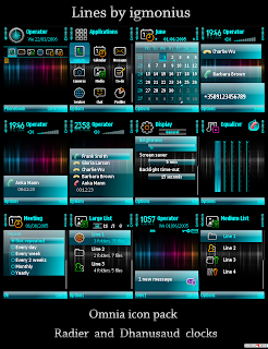 Theme for Nokia S60v3 phones with Samsung Omnia HD Icon Pack