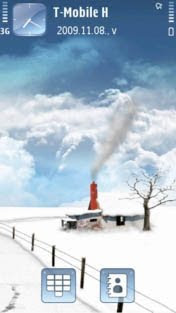 Dream Snow by Yris  S60v5 theme