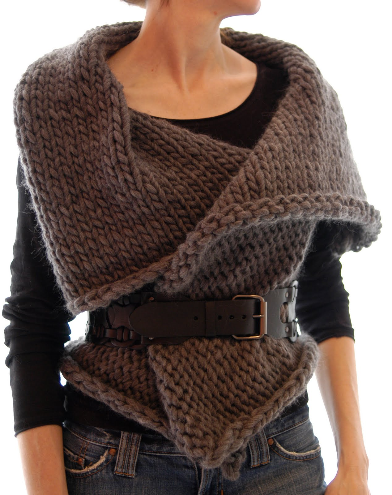 Knitting Patterns Vests : Knit 1 LA: Magnum Reversible Vest/Wrap
