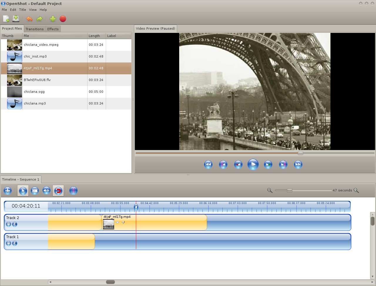 my progress bar the best video editor in linux openshot
