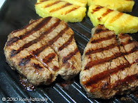 organic-beef-fillet-steak on a grill