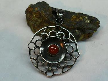 colgante cobre piedra jaspe