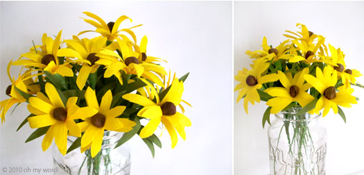 Facebook diy martha stewart crepe paper black eyed susans mightylinksfo