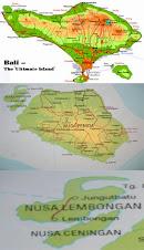 Map Jungut batu beach, Lembongan island