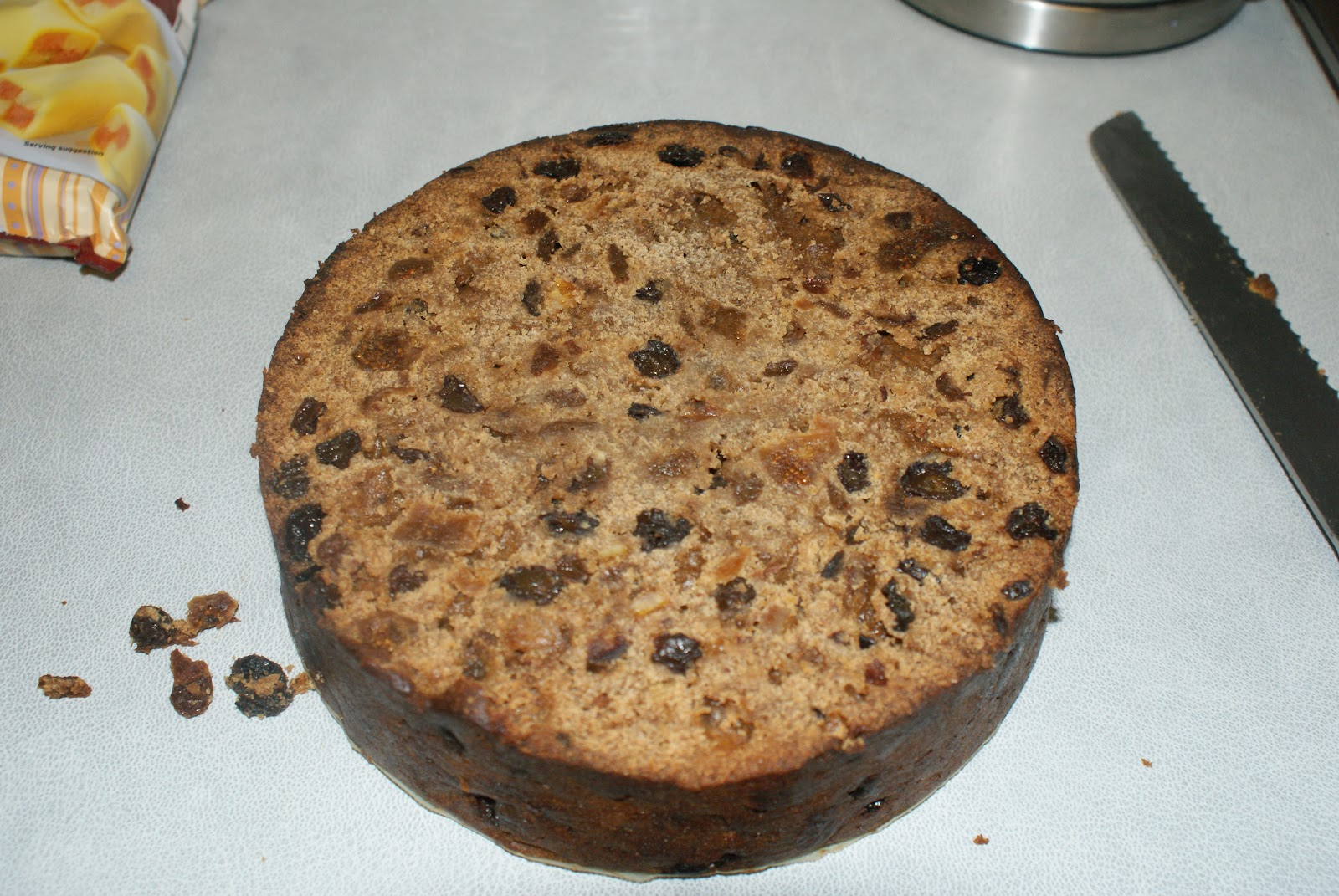 How to marzipan a christmas cake - Using A Large Serrated Knife Cut The Dome Of The Top Of The Cake If Necessary