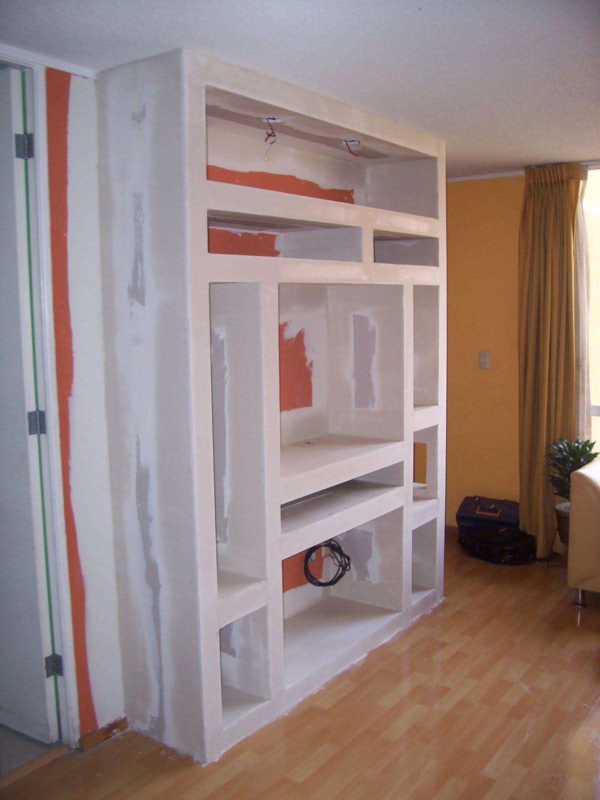 Sistema drywall muebles de television for Techos de drywall para dormitorios