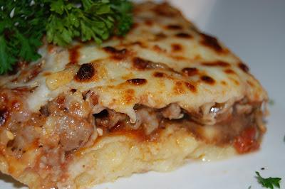 Culinary Infatuation: Polenta Sausage Mozzarella Lasagna/Casserole