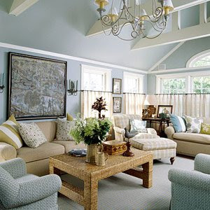 Blue Grey Living Room : DIY Challenge: What Color Should I Paint My Living Room?  The Stir