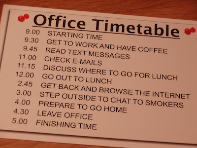 Typical Office Timetable - try beating this