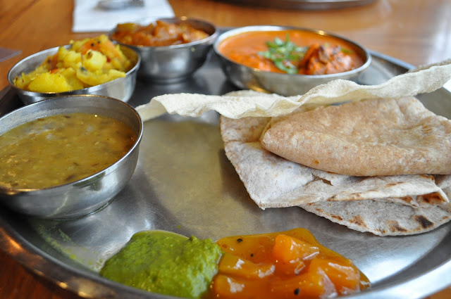 Masala+Zone+review+Islington+Indian+food+Chicken+thali