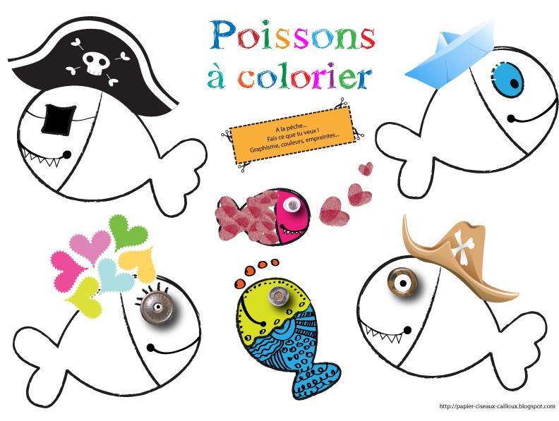 Papier ciseaux cailloux a colorier - Poisson d avril a imprimer coloriage ...