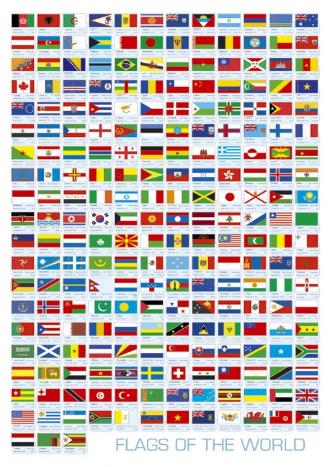 All+world+flags+with+names