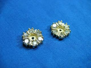 14 karat gold and diamond custom earring jackets