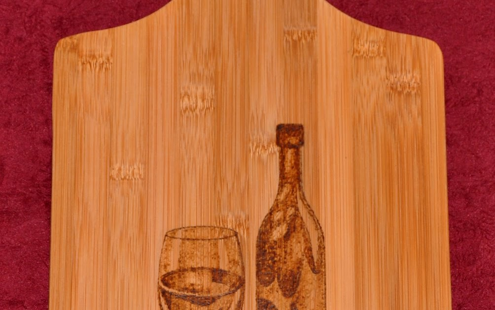 Napier Woodburning Wine And Grapes Cutting Board