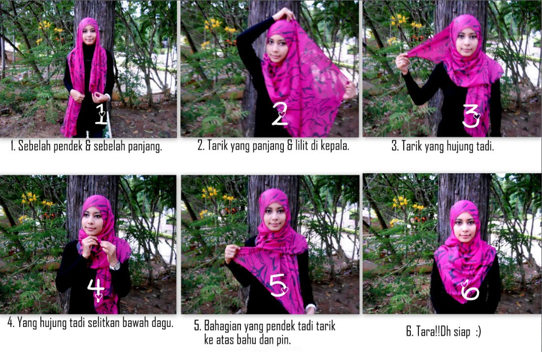 cara pakai shawl click for details tutorial bergambar cara pakai ...