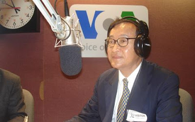 Sam Rainsy, who is currently in the UK, is expected to meet a number ...