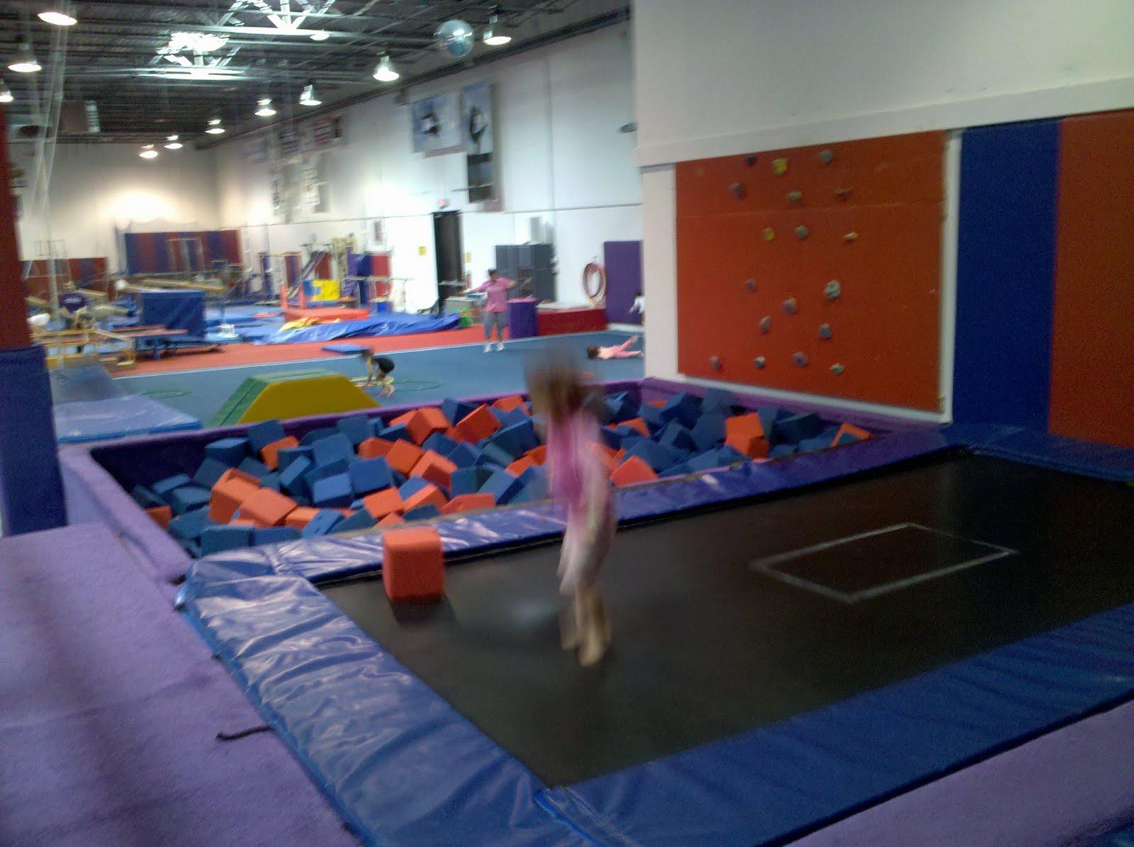 Michael & April: April playing at 1st Class Gymnastics
