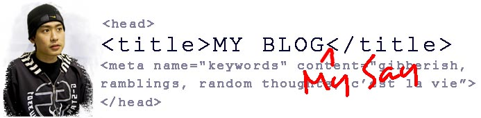 My Blog, My Say, by Kryptos5