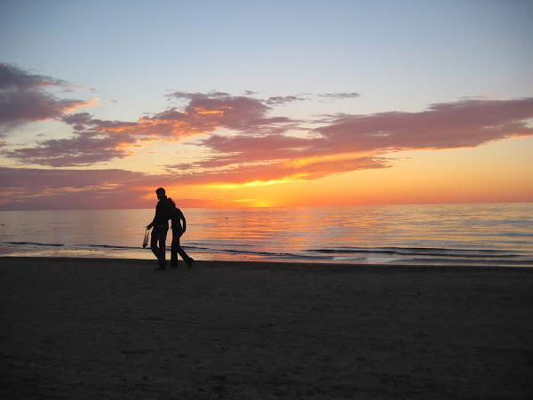 Romantikk i solnedgang