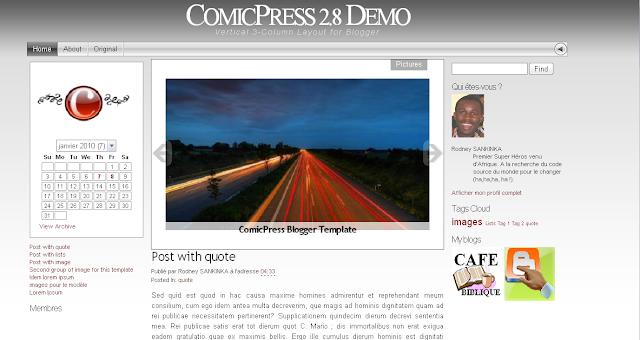 ComicPress v2.8 modèle pour Blogger blogspot template
