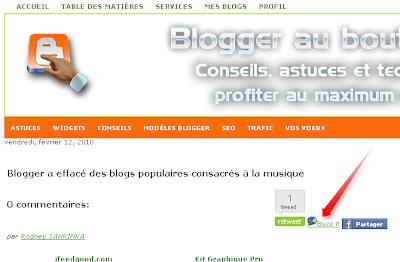 Google buzz button for Blogger, buzz it for Blogger blogspot, buzz it