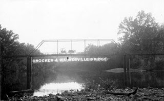 Skaggs Bridge, the first bridge across the Gasconade River between Waynesville and Crocker, Missouri.