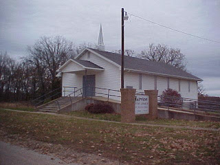 Fairview Baptist Church at Fairview Cemetery.  Photo by Pulaski Baptist Association.