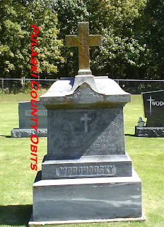 The headstone of Maria Theresia Wodohodsky, born in Austria 1859, died 14 April, 1916