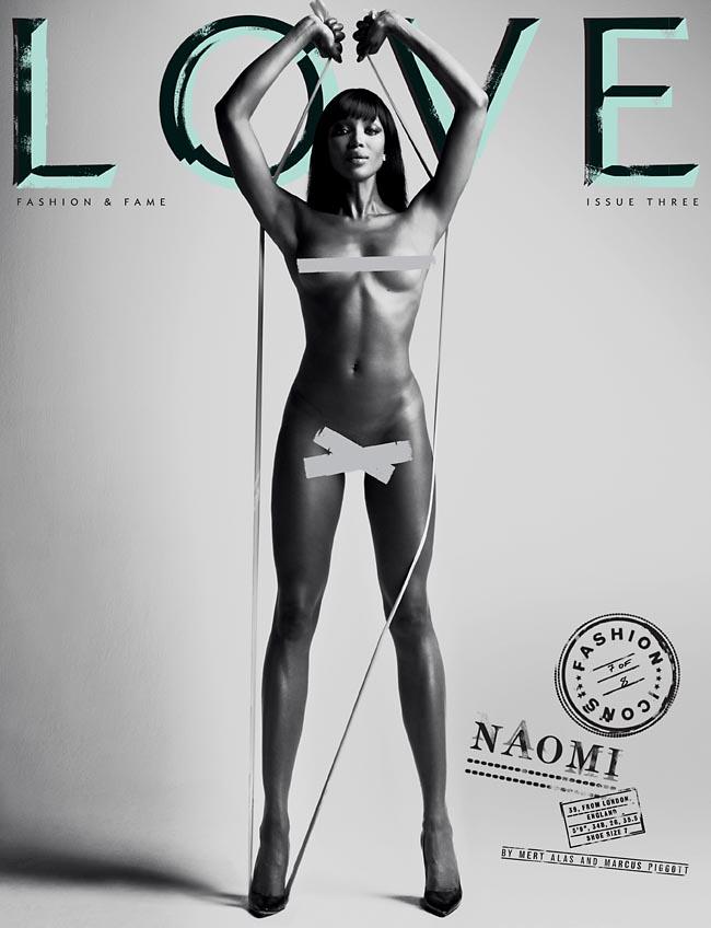 Naomi Campbell nue LOVE