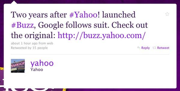 Yahoo Google Buzz Twitter