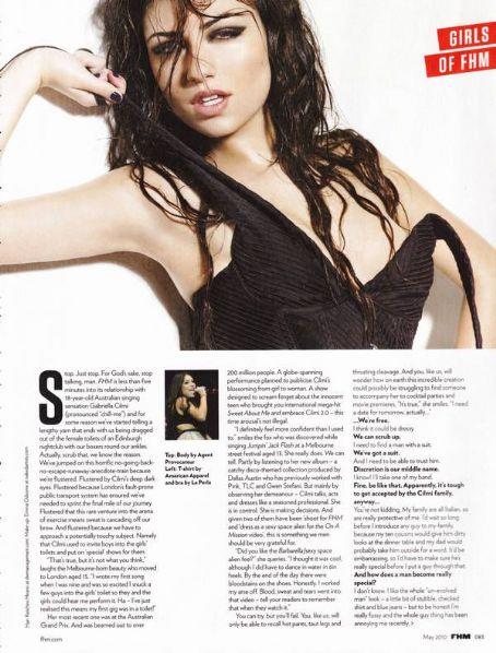 Gabriella Cilmi topless FHM UK