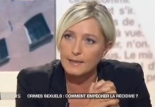 Marine Le Pen accuse Mitterrand de pédophilie